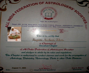 Review of astrologer nosheen begum